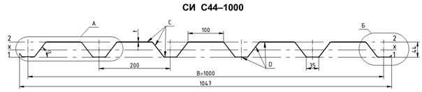 Профнастил С44 тех. характеристики