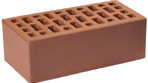 Кирпич Гжельский коричневый  полуторный