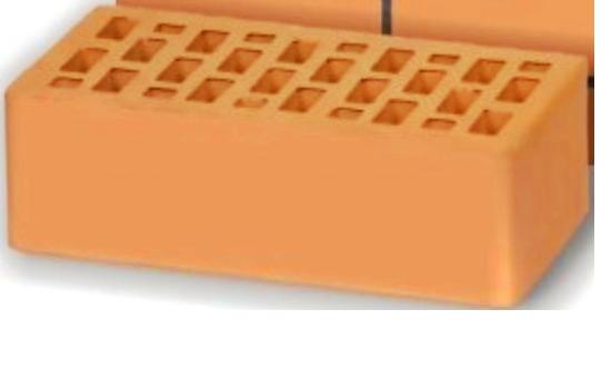 Кирпич Воротынский персик полуторный
