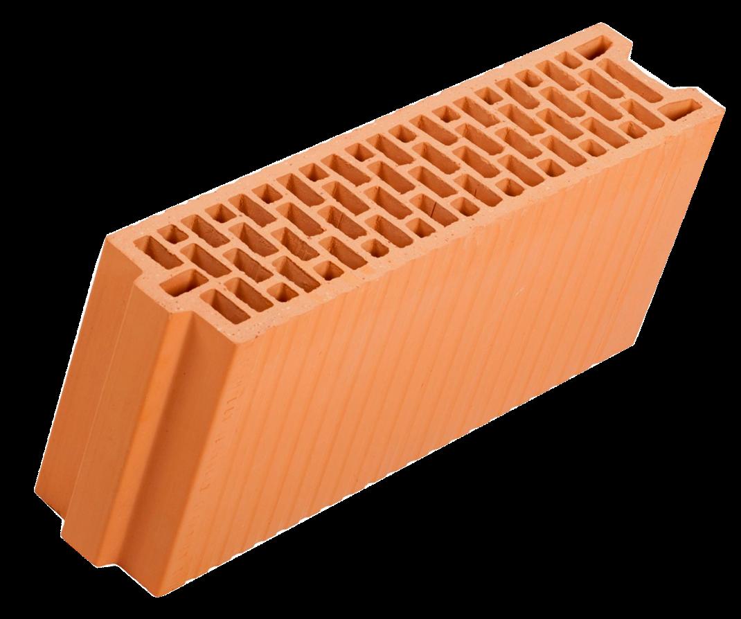 Крупноформатный керамический блок Porotherm 25