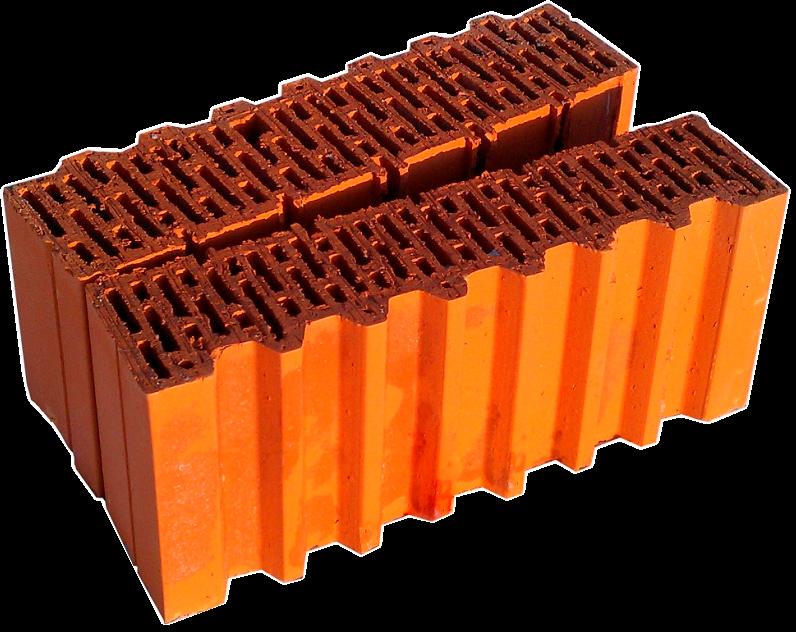 Крупноформатный керамический блок Porotherm 44 1,2